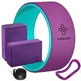 Overmont Yoga Blöcke Gürtel Rad Set Violett