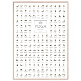 JUNOMI® Yoga Poster XL mit 168 Posen und Asanas, Yoga...