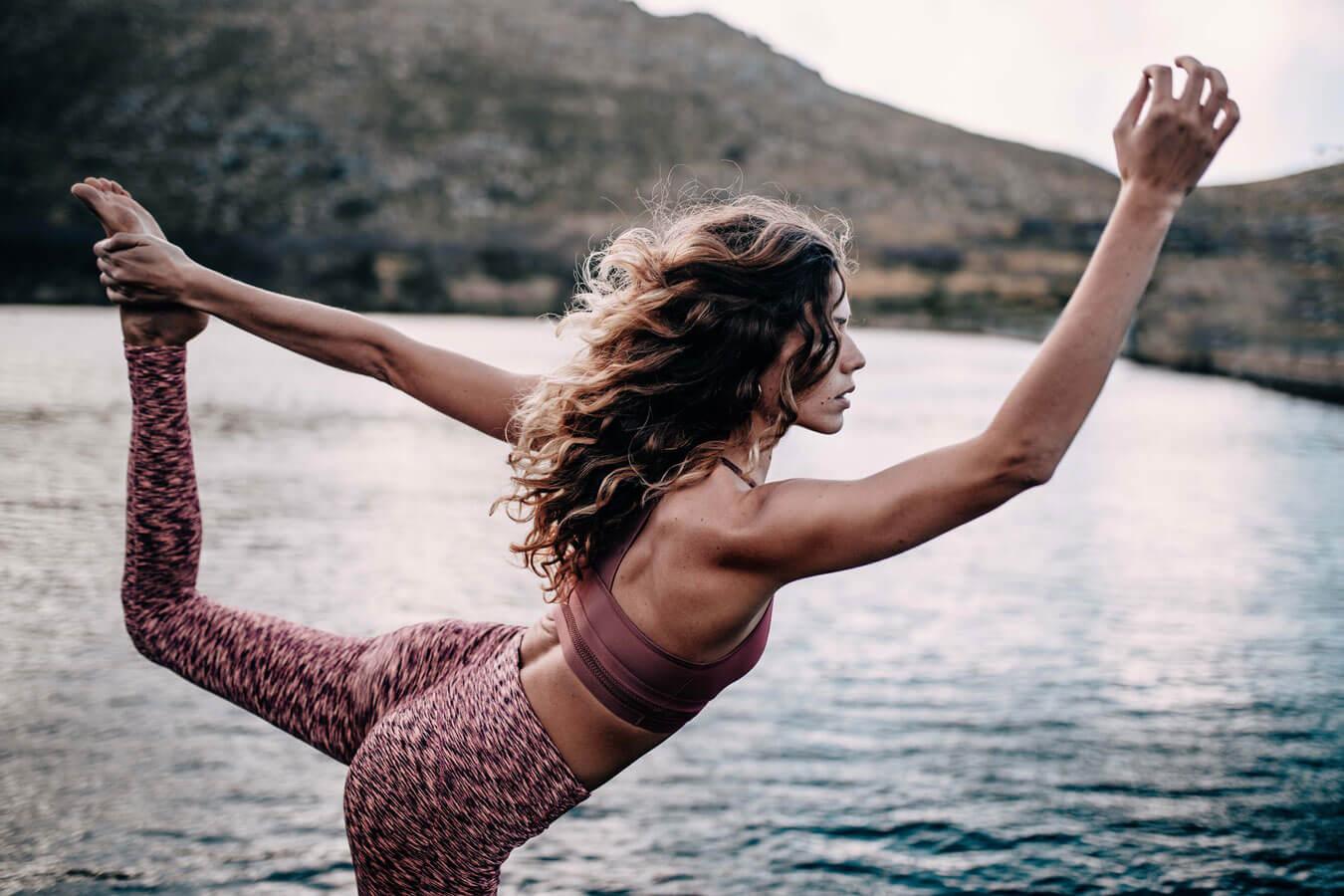 Yogapose-Frau
